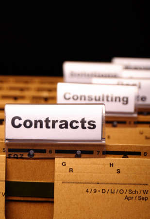 contract word on business folder showing trade or financial concept Stock Photo - 9594644