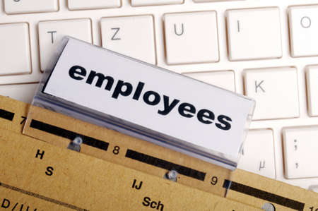 employess word on business office folder shopwing job hiring or work concept Stock Photo - 9594652
