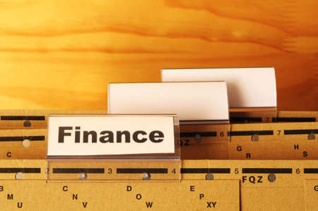 finance on business office folder showing financial success concept Stock Photo - 9594659