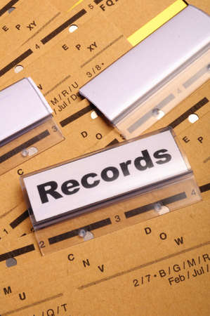 records word on business folder index showing office concept Stock Photo - 9594660