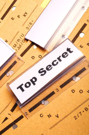 top secret folder or file in a business office  Stock Photo - 9594661