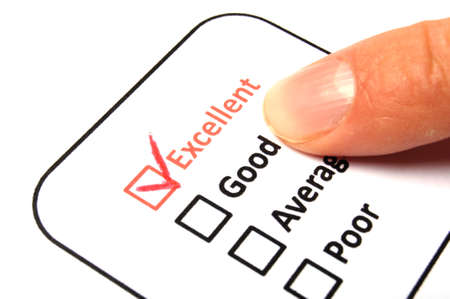 checkbox and pencil showing science education research or customer satisfaction survey concept photo