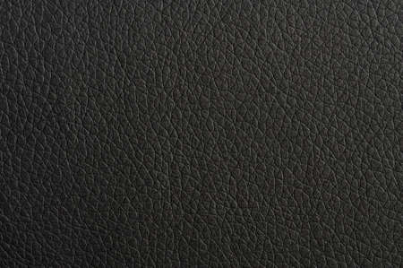 black leather: black leather texture background surface or wallpaper with copyspace Stock Photo