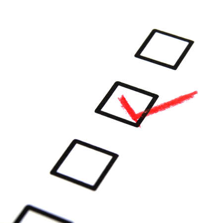 customer satisfaction survey form with checkbox showing marketing concept Stock Photo - 9771500