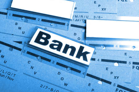 bank or banking word on tab folder showing finance or financial success concept Stock Photo - 9771568
