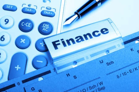 finance on business office folder showing financial success concept Stock Photo - 9771566
