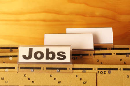 jobs or job concept with business folder in office showing earnings concept Stock Photo - 9771556
