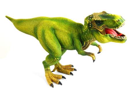 Scary Toy Dinosaur or Dino Isolated on White Background Stok Fotoğraf