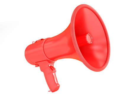 Megaphone signal red Stock Photo