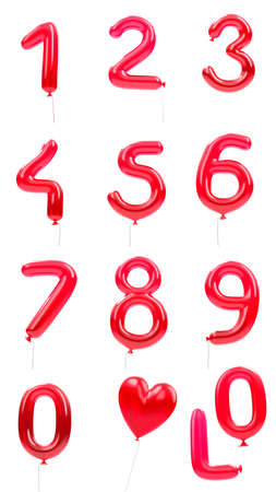 red balloon numbers Stock Photo - 9570324