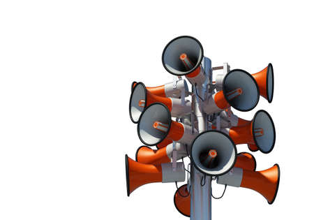 sixteen loudspeaker isolated