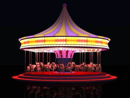 marquees: old carousel Stock Photo