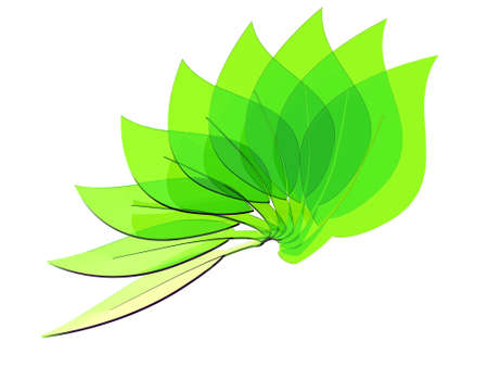 green eco leaves Stock Photo - 9778533