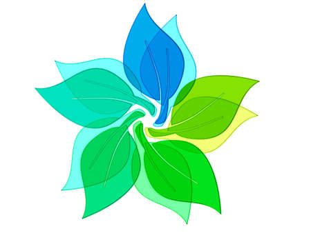 green eco flower Stock Photo - 9778534