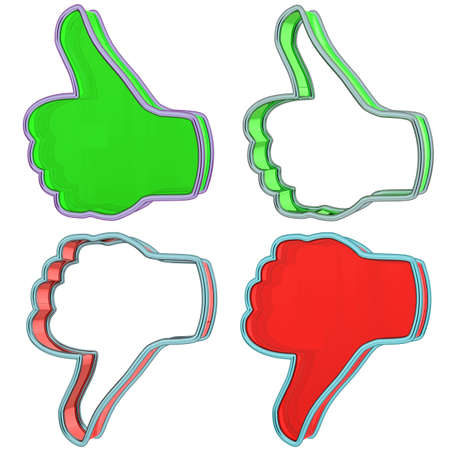 Thumbs up and down Stock Photo - 9959195
