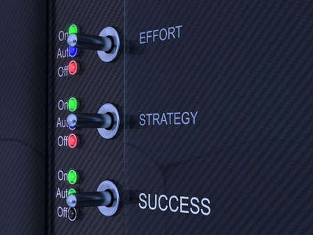 Success control panel Stock Photo - 9959194