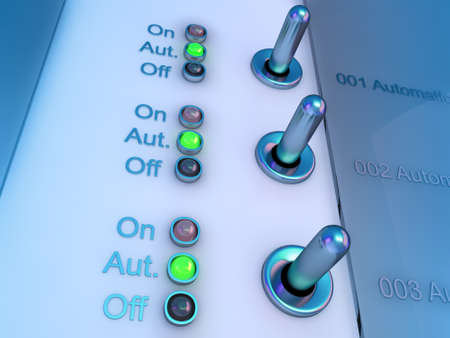 control switch panel Stock Photo - 9959189