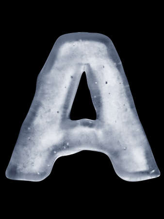 Ice Letter A photo