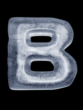 Ice Letter B photo