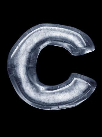 ice alphabet: Ice Letter C