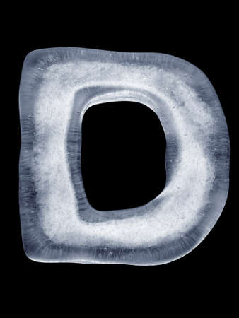 coldly: Ice Letter D Stock Photo