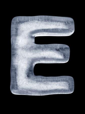 ice alphabet: Ice Letter E