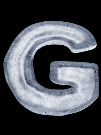 Ice Letter G photo