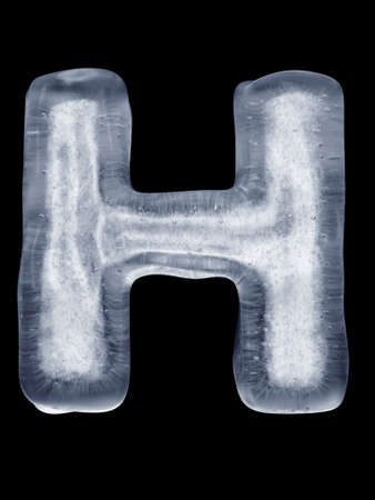 coldly: Ice Letter H Stock Photo