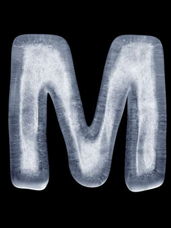 Ice Letter M