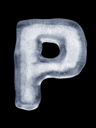 Ice Letter P