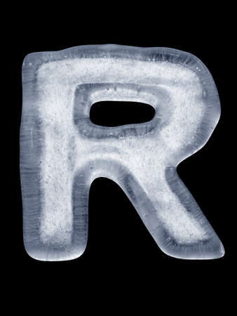 Ice Letter R