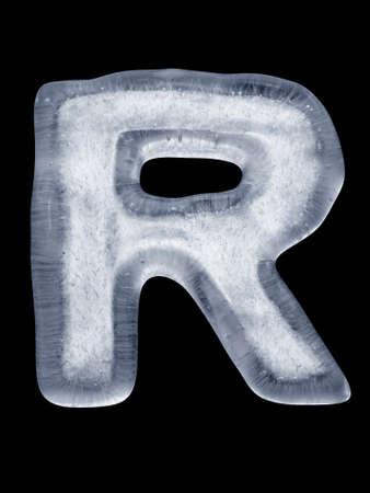 icecubes: Ice Letter R