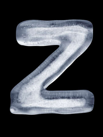 coldly: Ice Letter Z Stock Photo