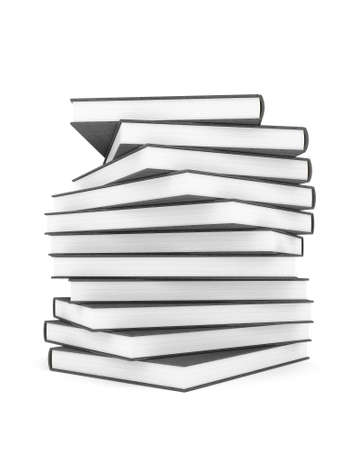Stack of Hardcover Books Stock Photo
