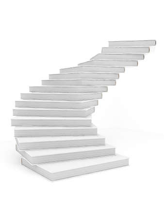 Book Stairway to success Stock Photo