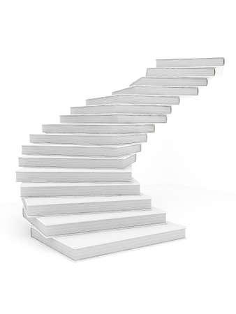escalera: Libro escalera hacia el �xito Foto de archivo
