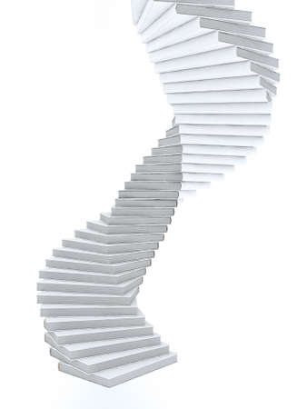 Spiral stairs made of books Stock Photo - 10632129