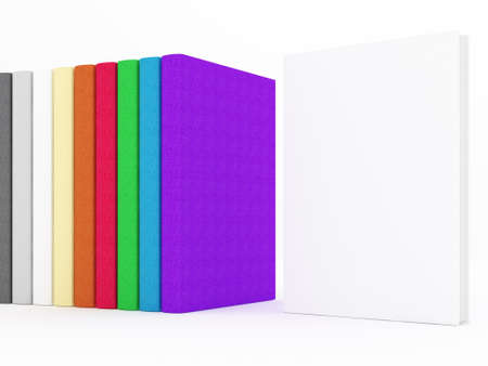 Hardcover books on white
