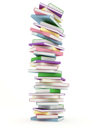 Stack of colorful Hardcover Books