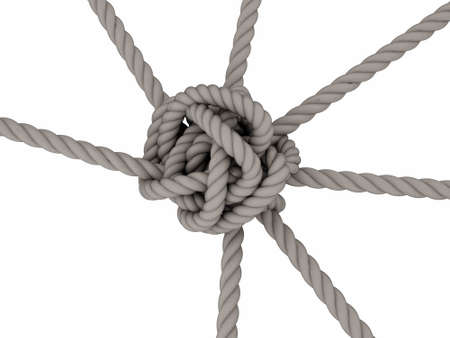 Rope Knot on white