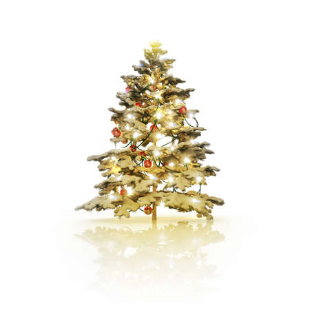 isoliert: 3D Christmas tree