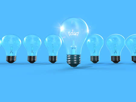 Bright light out of line 3D Stock Photo - 15745455