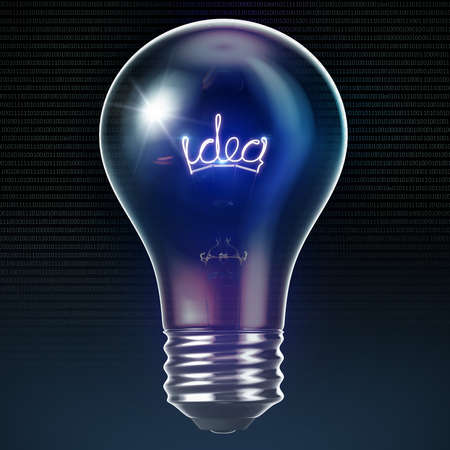 Bright idea light bulb 3D Stock Photo - 15745472