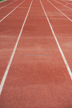 lanes: Close up : lanes of running track, Red Asphalt for runners