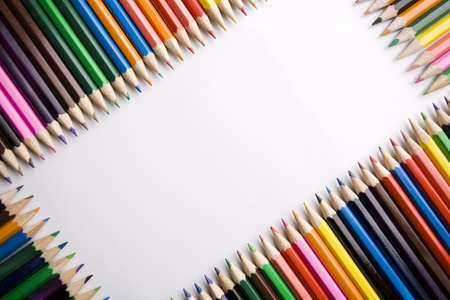 Frame with crayons photo