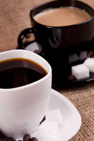 hot aromatic coffee photo