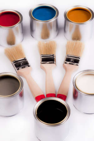 Composition of paint Stock Photo - 4929132