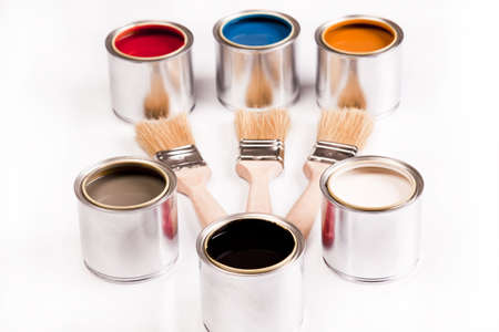 Composition of paint Stock Photo - 4929129