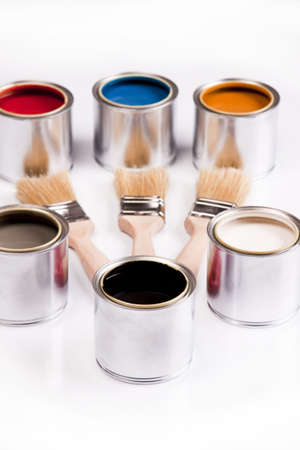Composition of paint Stock Photo - 4929110