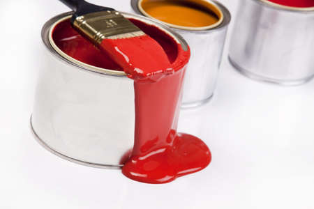Composition of paint Stock Photo - 4929114